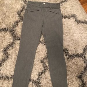 Gap gray work pants, skinny ankle, size 0